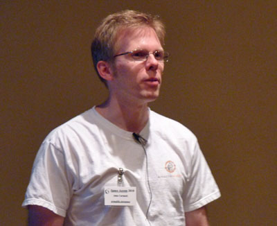 John Carmack speaking at Space Access '10 in Phoenix.