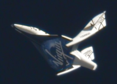 SpaceShipTwo in feathered flight