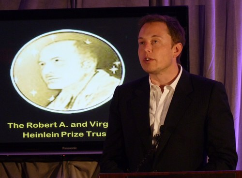 Musk speaking at Heinlein Prize ceremony