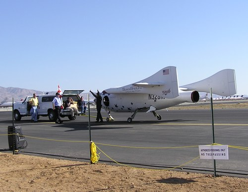 SpaceShipOne after 2004 June 21 flight
