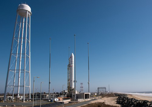 Antares on pad